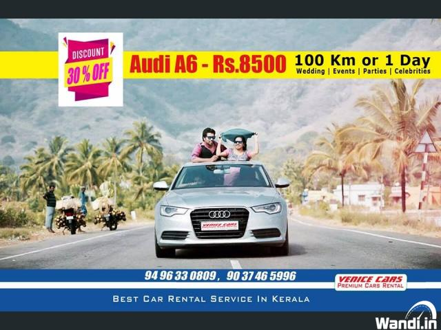 Audi A6 For Rent Car in Kerala Rs 8500 per day